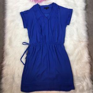 Banana Republic Pleated Drawstring Pocket Dress S